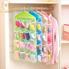 16 Grids Buggy Bag Underwear Socks Storage Bags Storage Organizer Save Space Home Storage green