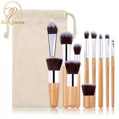 11Pcs/Set Makeup Brushes Powder Brush/Eye Shadow Brush/Foundation Brush/Concealer Brush Makeup Tools as picture