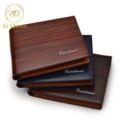 Men Short PU Wallets Classic Business Short Multi-card Purse Men Bags Fashion Leather Wallet brown one size