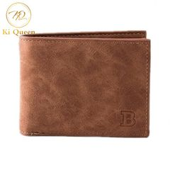 Men Short Paragraph Wallets Fashion Business Casual Leather PU Wallet Men Bags brown one size