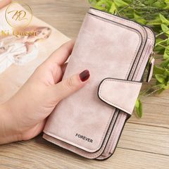 Women Wallets Fashion Long PU Leather Wallet Women Bags pink one size