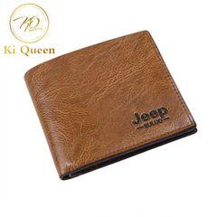 Men Short PU Wallets Classic Business Short Multi-card Purse Men Fashion Leather Wallet Men Bags light brown one size