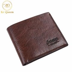 Men Short PU Wallets Classic Business Short Multi-card Purse Men Fashion Leather Wallet Men Bags dark brown one size