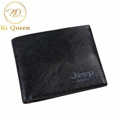 Men Short PU Wallets Classic Business Short Multi-card Purse Men Fashion Leather Wallet Men Bags black one size