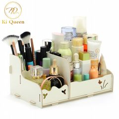 Makeup Storage Box Organizer Makeup Box Beauty Wooden DIY Cosmetic Boxes white
