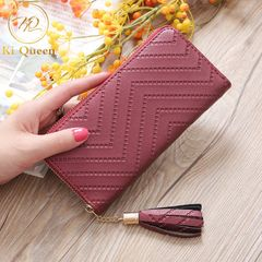 Women Wallets Fashion Long PU Leather Wallet Women Bags red one size