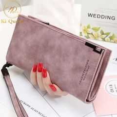Women Wallets Fashion Long PU Leather Wallet Women Bags red as picture