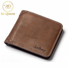 Men Wallets PU Classic Business Short Multi-card Purse Men Bags Fashion Wallet brown one size