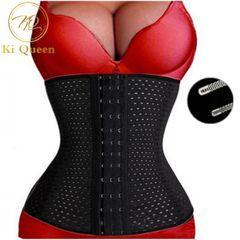Women Shapewear Waist Trainer Slimming Belt Slim Body Shaper Corsets Bustiers black M(Fit Waist 26.7-29 Inch)