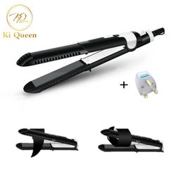 Straightener Flat Iron Straightening Irons Curling Iron Hair Styling Tools Hair Beauty Black one size