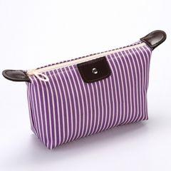Women Makeup Bags Ladies Cosmetics Bags Storage Bags Fashion Storage Box Clutch Bags Purple