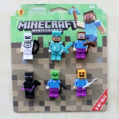 MC world Small blocks Fight For Children Toy assembly action figure 6pcs/lot with package as picture random one size