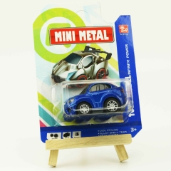 Mini Q version alloy car car 1:64 simulation car template installed blue one size