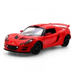 Colorful car simulation alloy back to the car 1: 32 model Lotus flower cool car model red one size