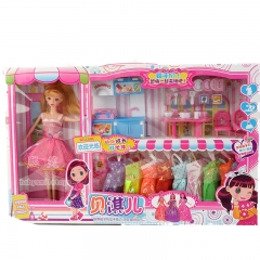 Children dream kitchen set Barbie doll DIY home birthday toys random one size