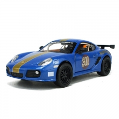 Children 's Toys 1:32 Porsche Camman Alloy Toy Model blue one size