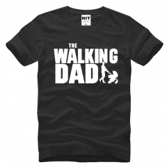 Walking Dad Fathers Day Gift Men's Funny T-Shirt T Shirt Men Short Sleeve Cotton Novelty Top Tee black+white s