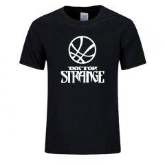 Super Hero Doctor Strange T-Shirt Movie Cartoon Totem Dr.Stephen Mysterious Super Hero Unique Draw black+white s