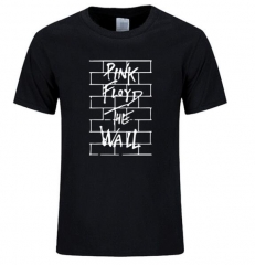 2017 DIY fashion street Pink Floyd this wall interesting print T-shirt to reach the cotton O-neck black+white s