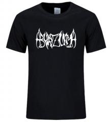 New Arrival Fashion Style burzum O-Neck Cotton Short Sleeves T Shirt Men burzum Rock Band Print black+white s