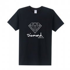 summer Fashion short sleeve New printed diamond supply co men skate brand hip hop top T shirt black+white s
