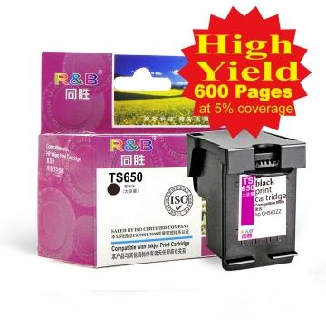 Ink Cartridge 650 Black With HP Deskjet Ink Advantage 3525/4615/  4625/5525/6525 e-All-in-One