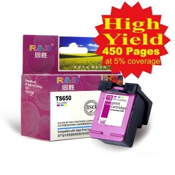 Ink Cartridge 650 Tri-color With HP Deskjet Ink Advantage 3525/4615/  4625/5525/6525 e-All-in-One