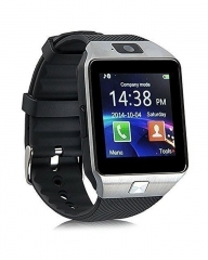 Generic DZ09 - 1.56 Smart Watch - 128MB ROM - 64MB RAM - 0.3MP Camera - Silver black .