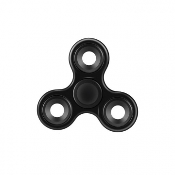 Fidget Spinner Durable Rotary Stamping Stress Relief Fingertip Toy Tri-spinner Hand Spinner BLACK 2.87 x 2.87 x 0.53 i