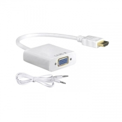 UNIVERSAL Hdmi To Vga Converter With Sound - White white 2