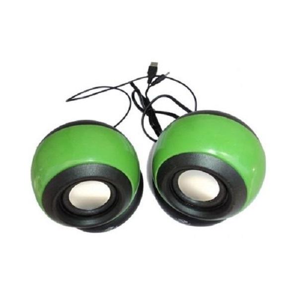 Generic Multimedia Speakers - 2.0 USB - Green green 2 1