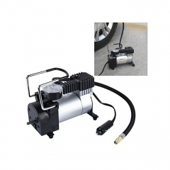 Air Compressor Single Cylinder With Pressure Gauge For Cars Vans Air Mattress Balls