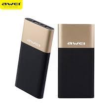 Awei P53K Powerbank - 10000mah Gold and Black 10000