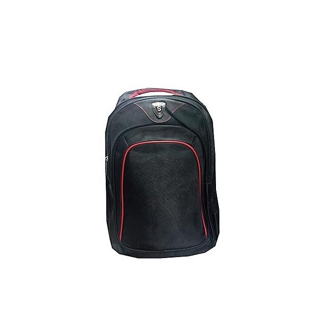 Unisex Laptop Backpack Travel College Shoulder Bag black normal