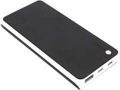 JYF D9 - 30000mAh Portable wired power bank- Black black 30000