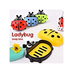 Kids Ladybug Cartoon Themed Soap Dish Holder green,yellow,blue and red normal