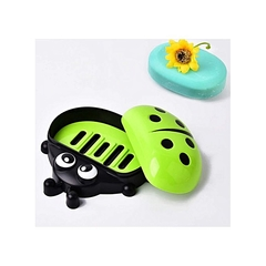 Kids Ladybug Cartoon Themed Soap Dish Holder green normal