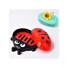 Kids Ladybug Cartoon Themed Soap Dish Holder red normal