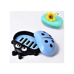 Kids Ladybug Cartoon Themed Soap Dish Holder blue normal