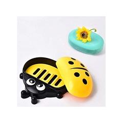 Kids Ladybug Cartoon Themed Soap Dish Holder yellow normal