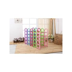 Portable Foldable Shoe Rack green,yellow,blue and red normal