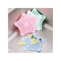 Creative Bathroom Shower Drain Cover Starfish Hair Filter Kitchen Sink Strainer green,yellow,blue and red normal
