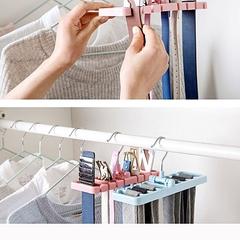 Tie Shawl Scarf Rack Holder Home Belt Hanger Pink pink