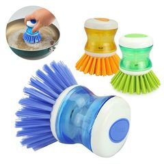Multipurpose Self Soap Dispensing Dish Washing Cleaning Brush multicolour normal