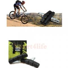 Mountain Bike Bulk Brake Lining/Leather/Brake Piece of Bicycle V Brake Parts Black & Silver