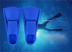 Swimming Silicone Diving Equipment Flippers Swimming Fins Blue-L free size