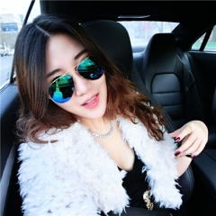 Fashion Unisex Retro Toad Sunglasses Personality Anti-ultraviolet (uv) Goggles for Outdoor Gold  Frame