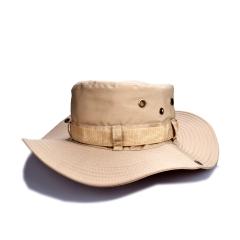 Men's Sun Hat Summer Fisherman Hat Mountain Hat Sunscreen Cap Outdoor Jungle Cap Beige