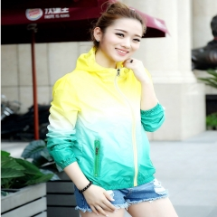 Summer New Ultra-thin Breathable Quick-drying UV Lovers Skin Bask In Clothes Wind Coat Yellow & Green-XXXL