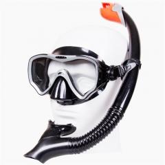 Scuba Diving Myopia Hyperopia Strap Suit Black Mask Swim Goggles Snorkel Underwater Sport Anti Fog Black 41.8*28.9*2.6cm